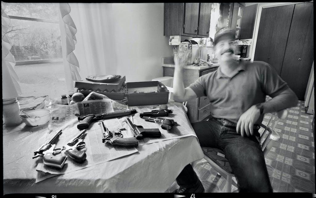 Gunshot victim. Photograph by Byrd Williams IV, 1986.