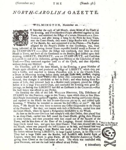 NC Gazette 1765