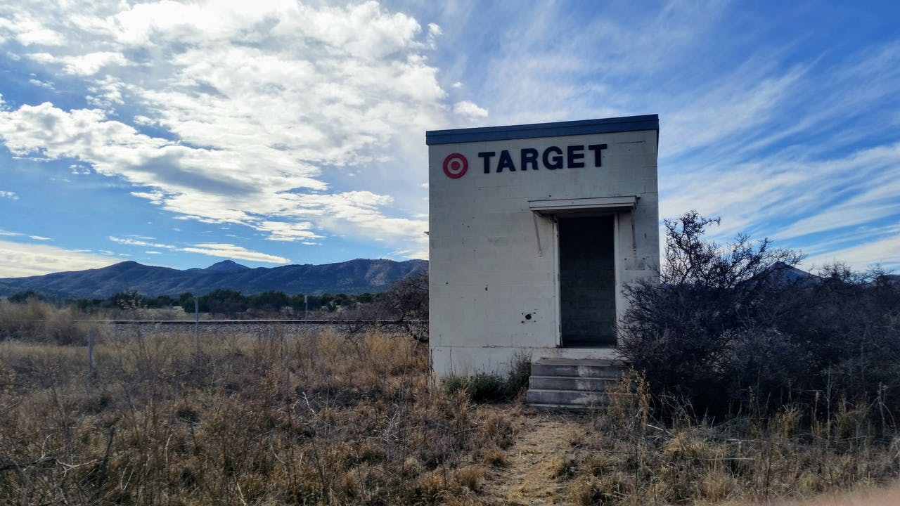 Target Marathon, a new roadside attraction along U.S. 90 between Alpine and Marathon.