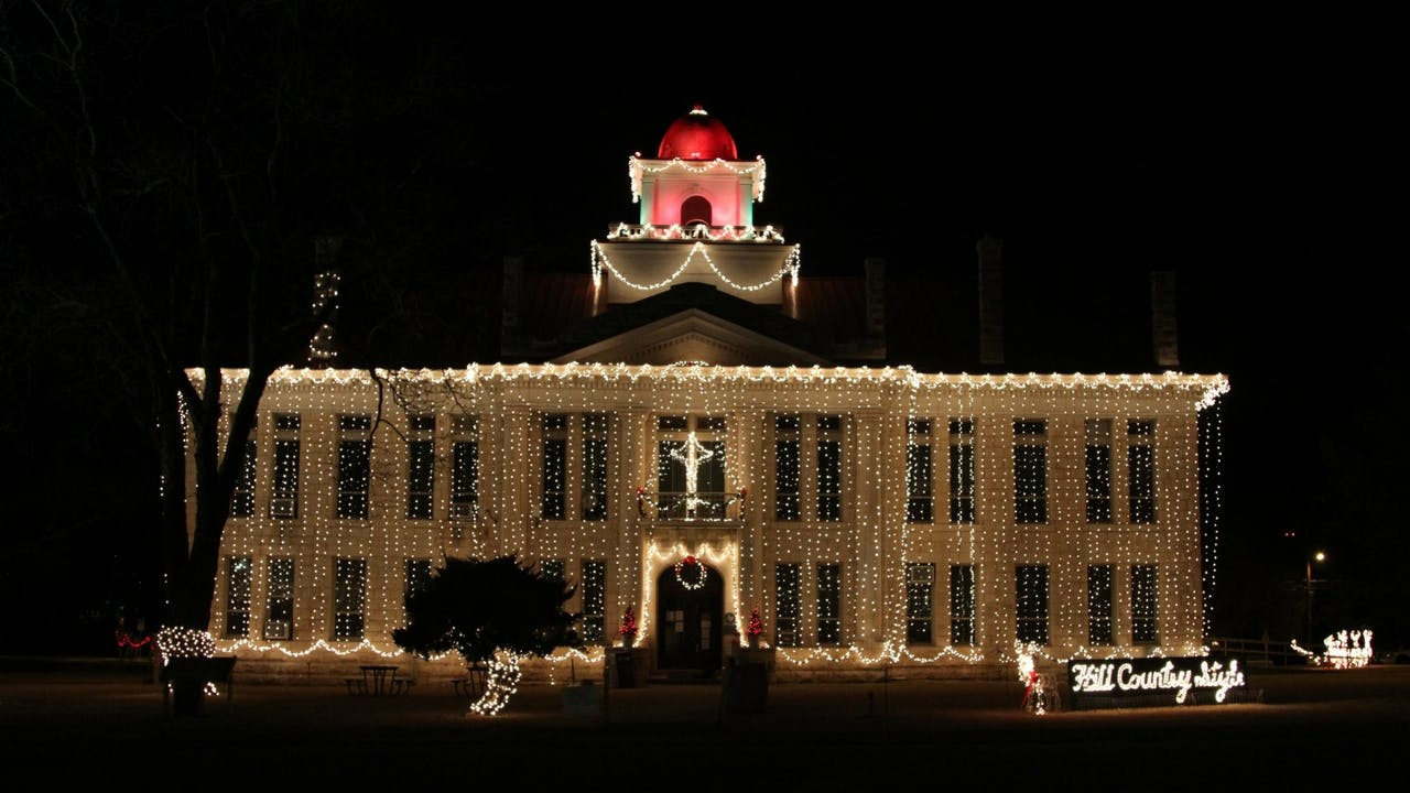 The Blanco County Courthouse, in Johnson City.