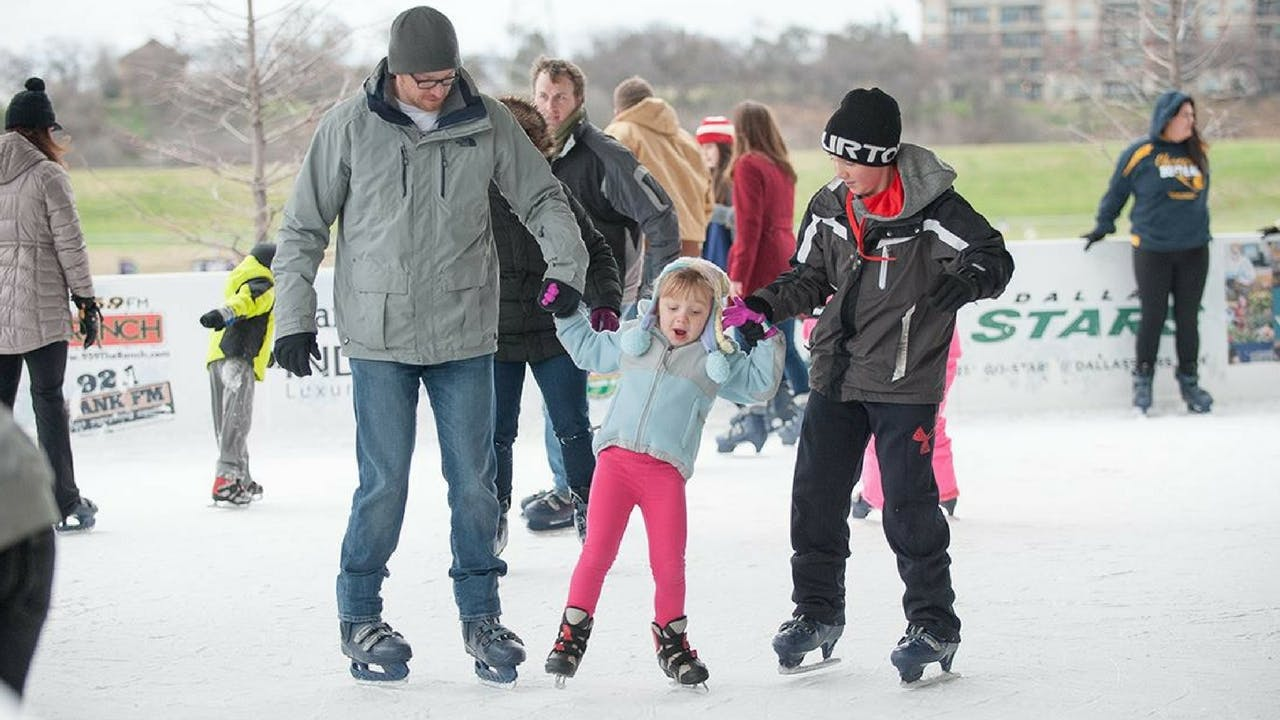 The Panther Island Ice rink, in Fort Worth.