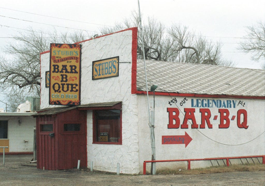 Stubbs Bar-B-Que in Lubbock. Image from virtualubbock