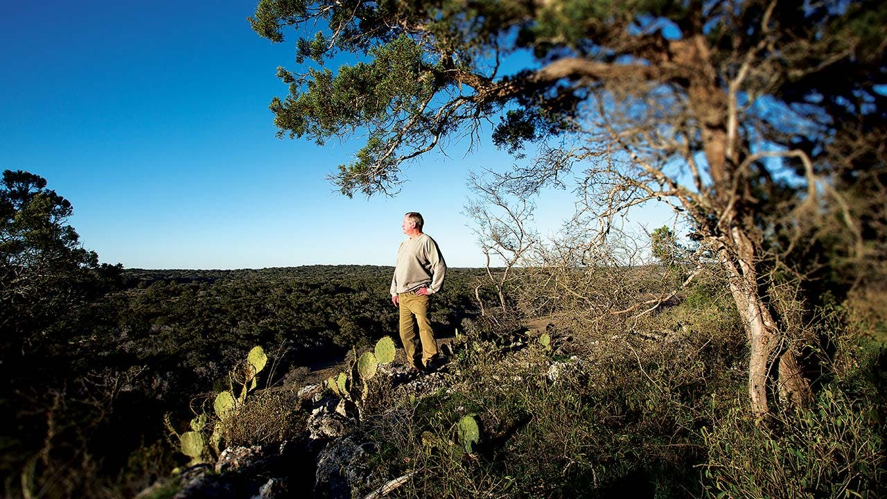 Halifax Ranch owner William Johnson on his property.