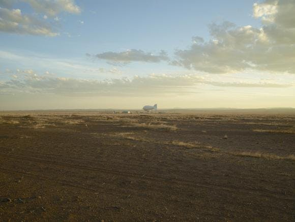 Surveillance blimp, Marfa, Texas. Richard Misrach (b. 1949)