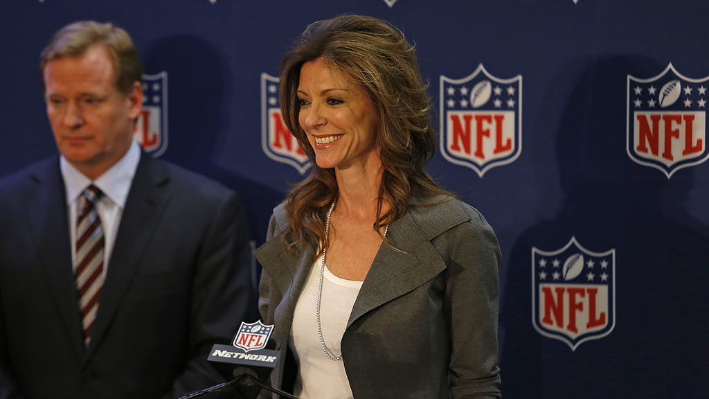 12 December 2012: NFL Commissioner Roger Goodell names Charlotte Jones Anderson of the Dallas Cowboys to be chairwoman of The NFL Foundation, a charitable organization. The press conference was at the Four Seasons Hotel in Irving, Texas. Photo by James D. Smith