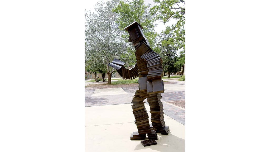 Read Reader, Allen's 2003 sculpture in 1978.