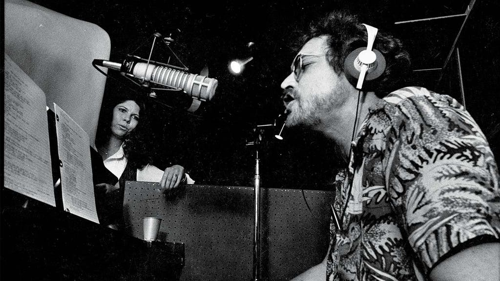 Allen and his wife, Jo Harvey, recording at Lubbock's Caldwell Studios in 1978.