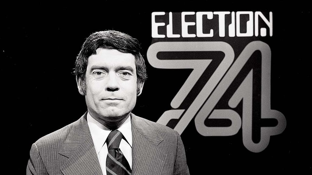 Dan Rather covering the election in 1974.