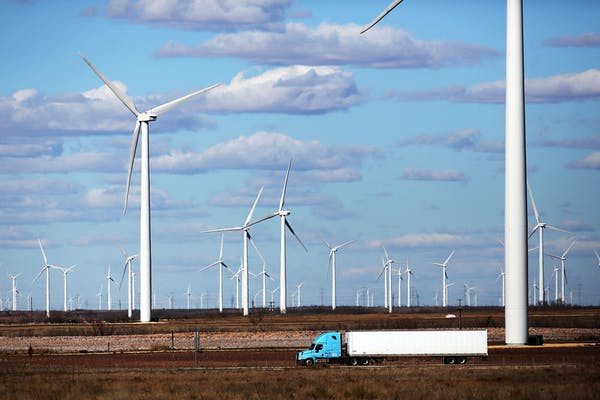 Wind Turbines In Texas Provide Alternative Energy Source To Power Grid