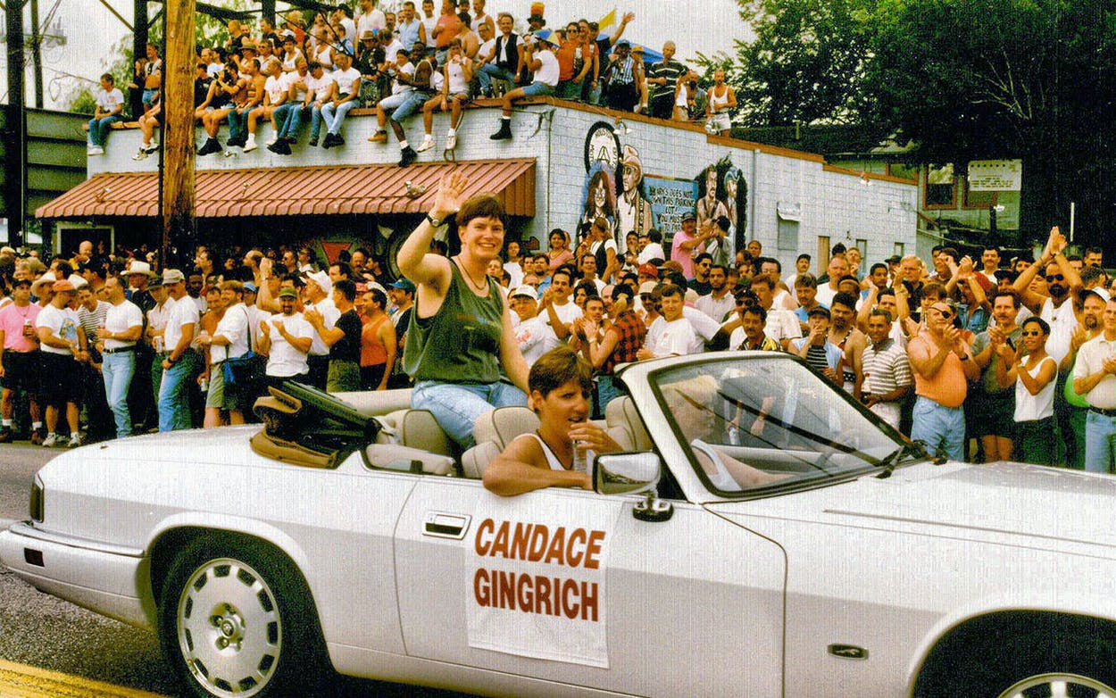 The 1996 Houston Gay Pride Parade in Montrose.