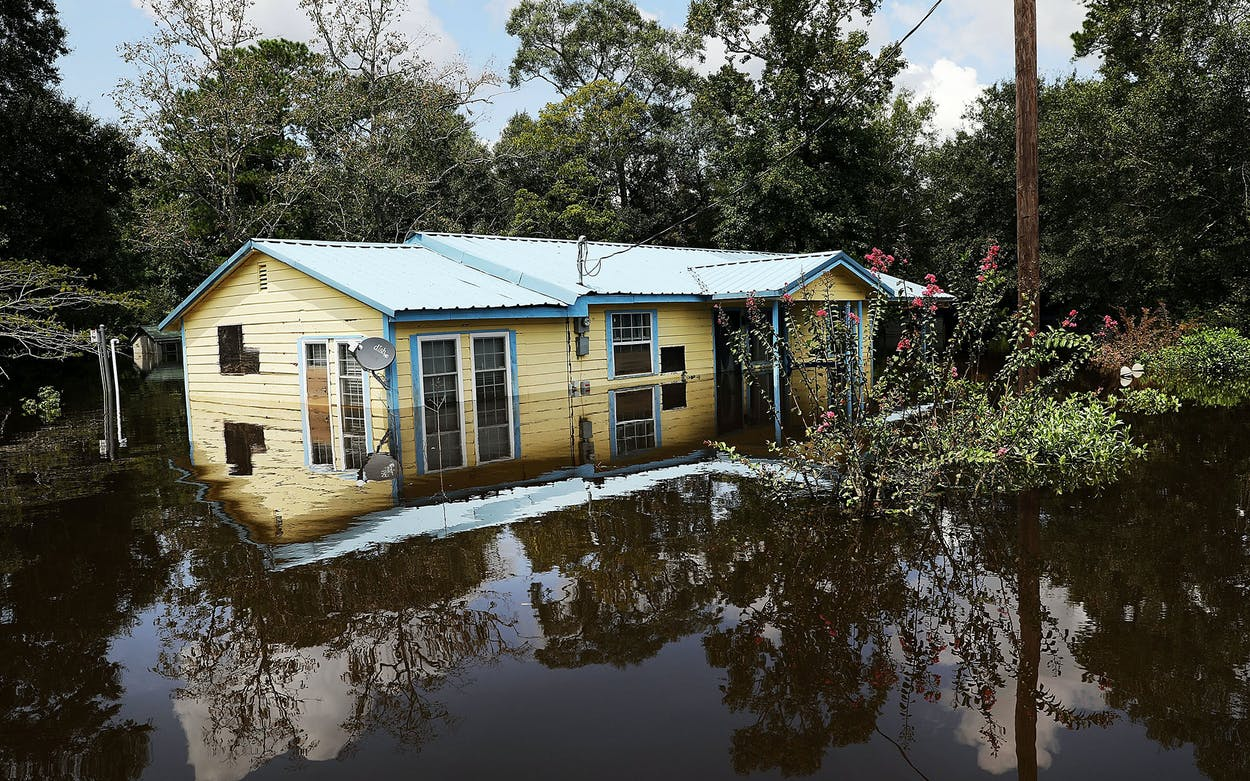 Flooded home Hurricane Harvey