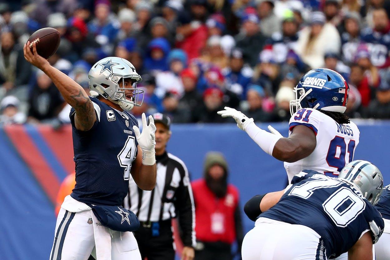 Cowboys' quarterback Dak Prescott.