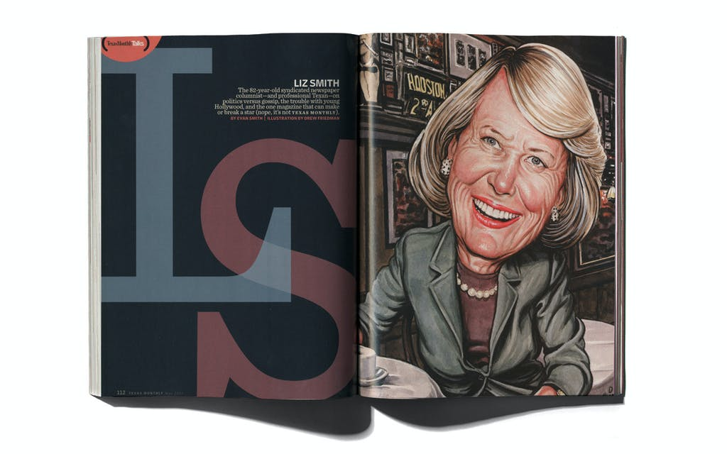 Liz Smith in Texas Monthly's May 2005 issue.