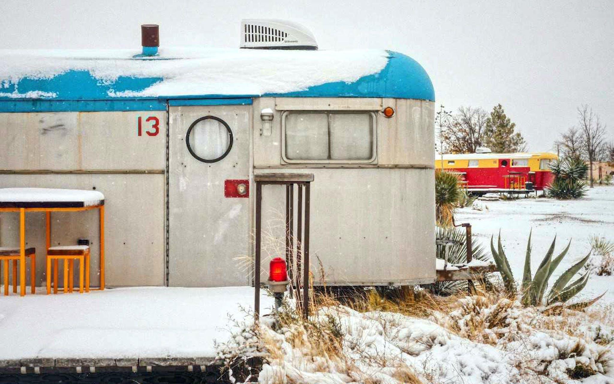Marfa, TX Snow