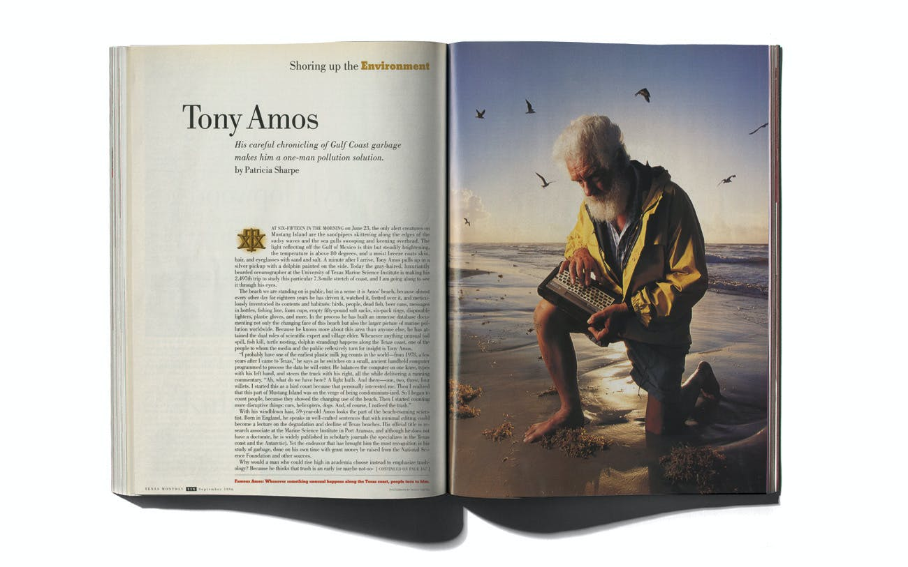 Tony Amos in Texas Monthly's September 1996 issue