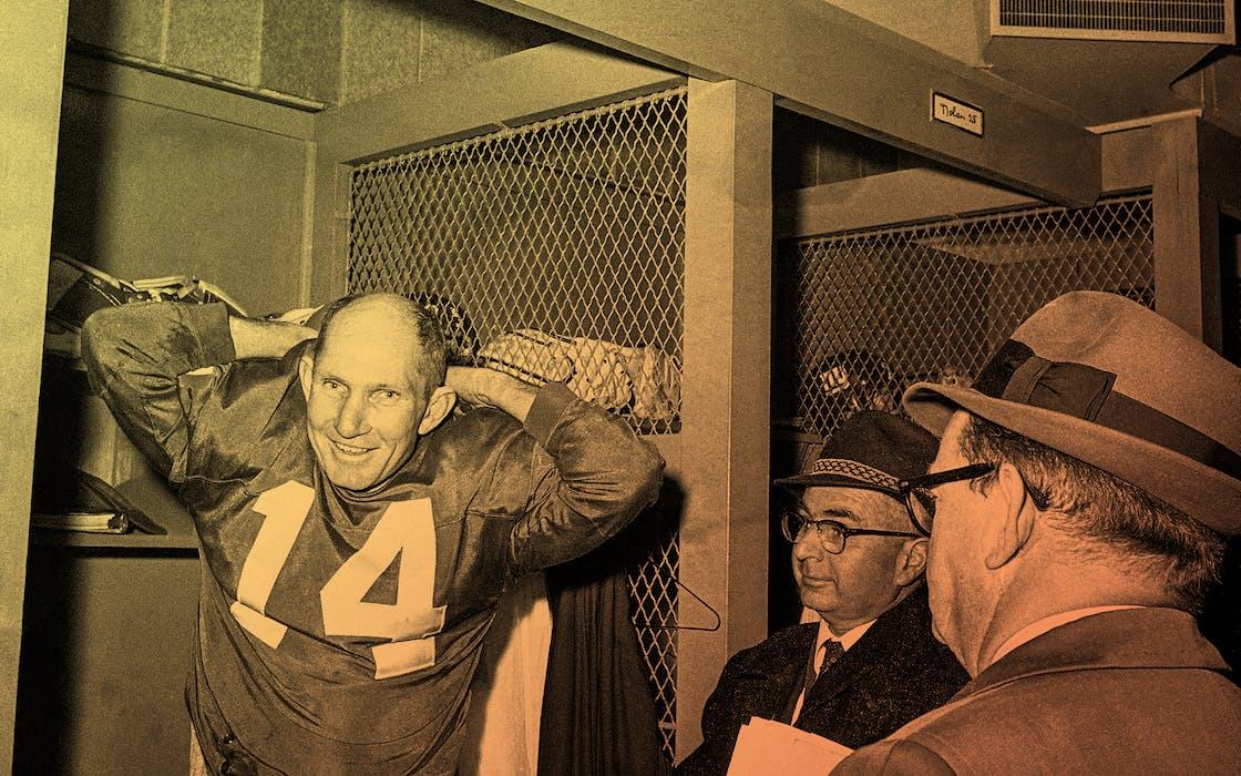 New York Giant quarterback Y.A. Tittle
