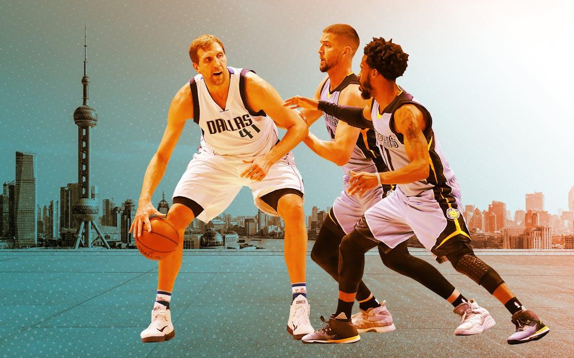 Dallas Mavericks photo illustration