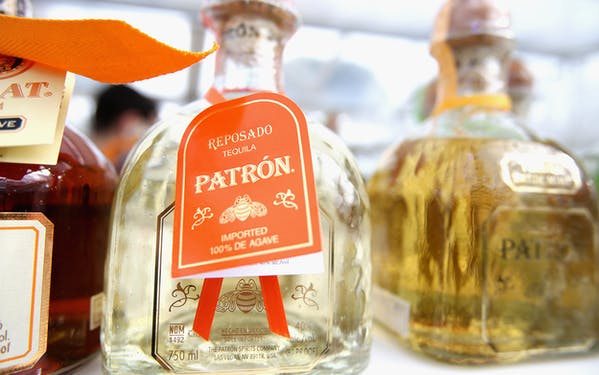 Bottles of Patron Tequila