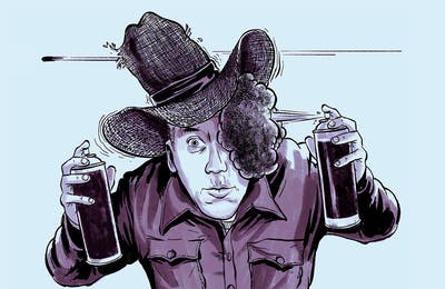 Texanist black straw hat