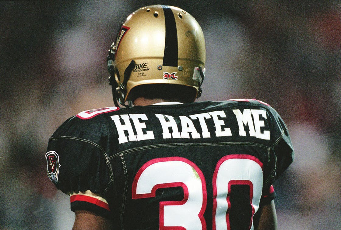XFL Player He Hate Me