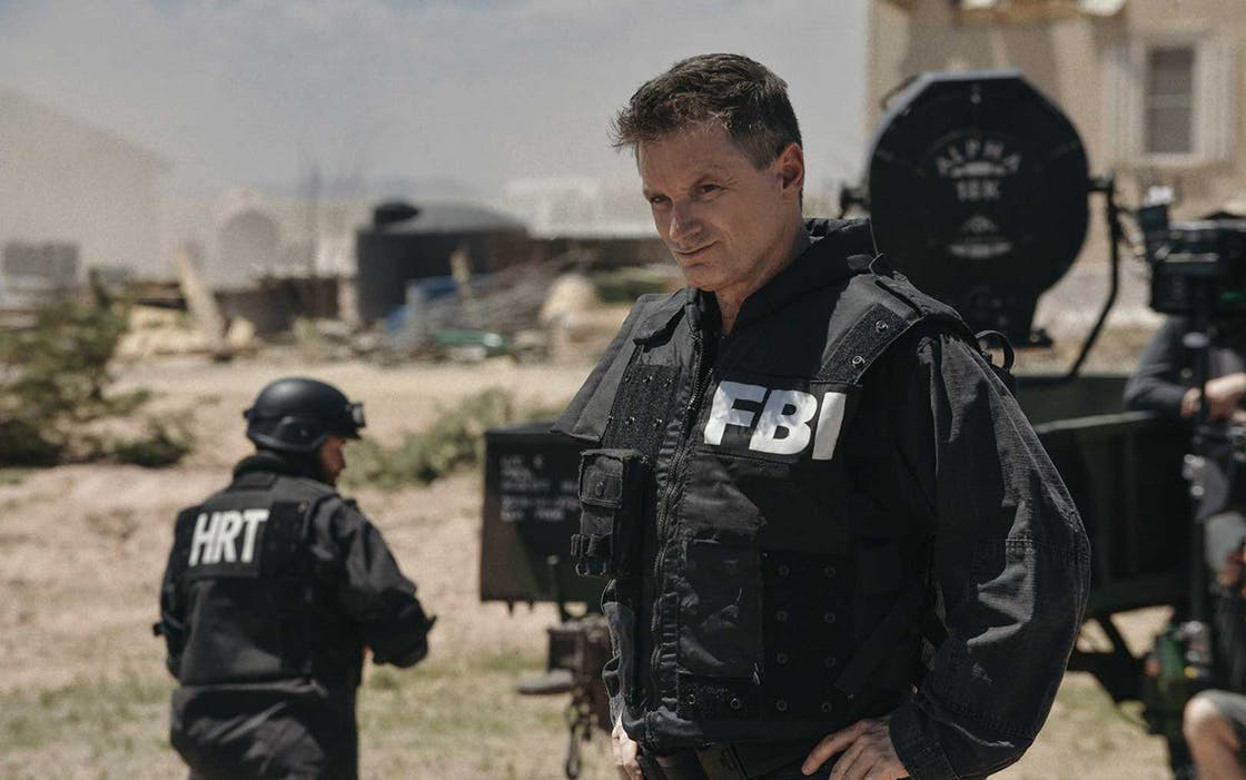 Shea Whigham as FBI agent Mitch Decker in 'Waco'.