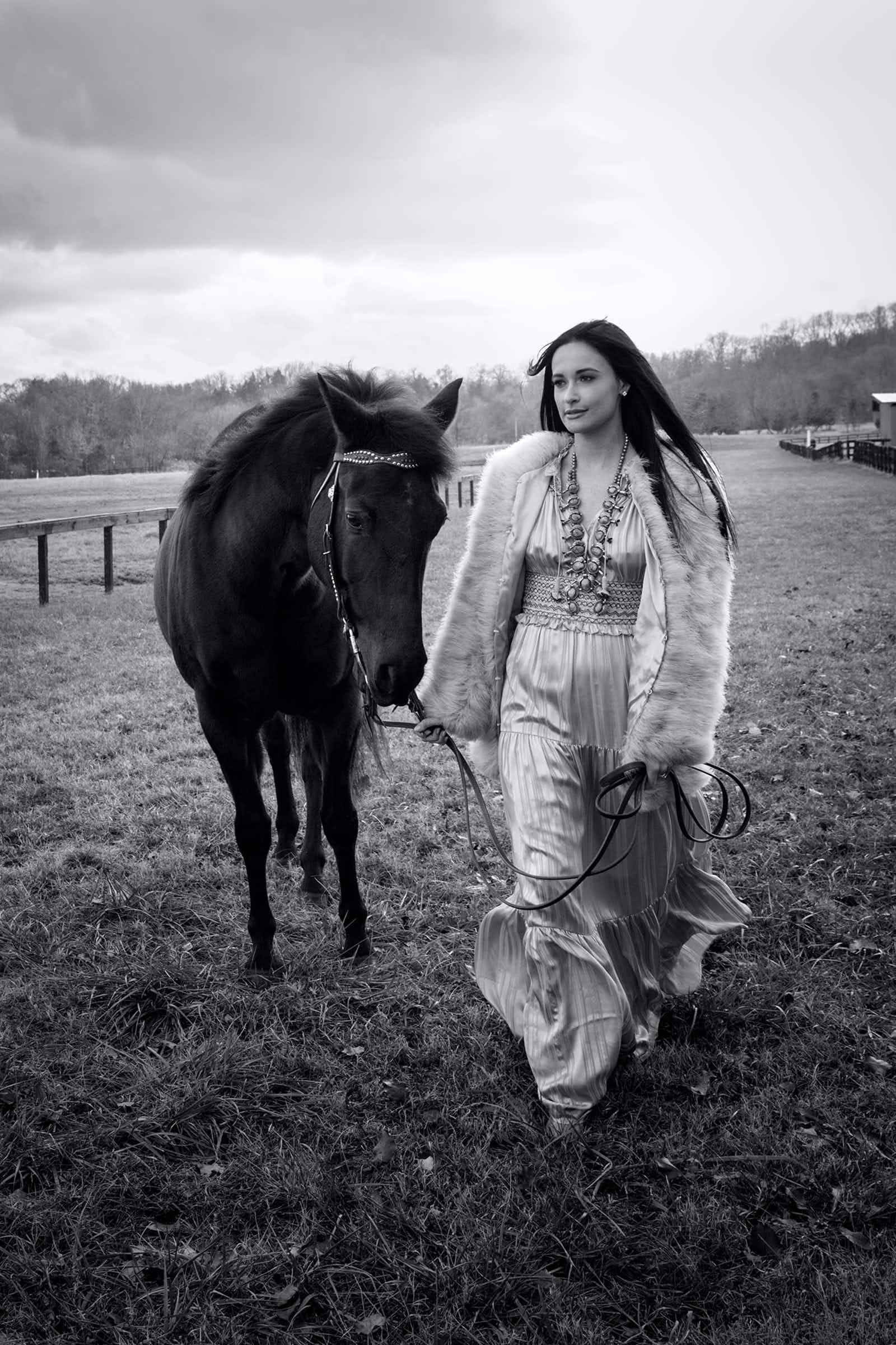 Kacey Musgraves and horse
