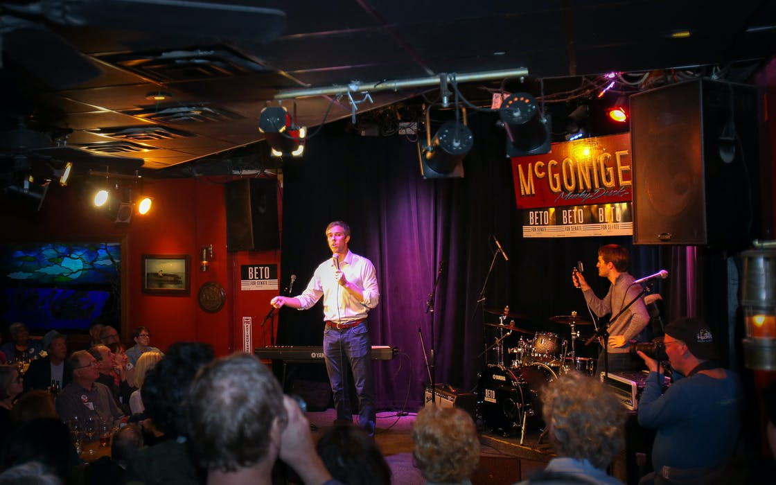 Beto O'Rourke on stage