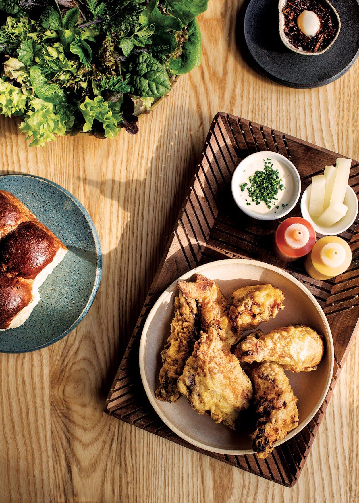 Fried Chicken Pitchfork Pretty