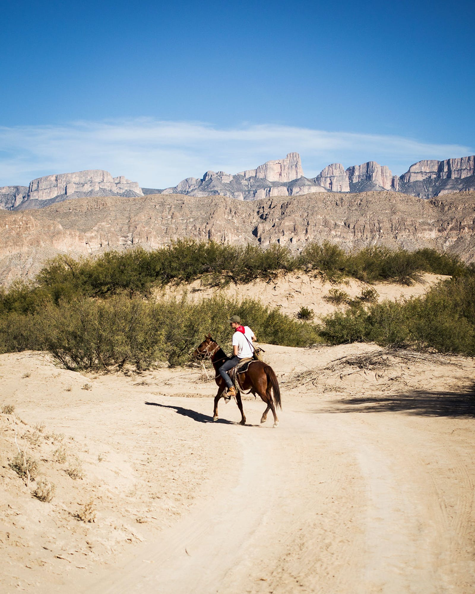 Riding a horse in Boquillas