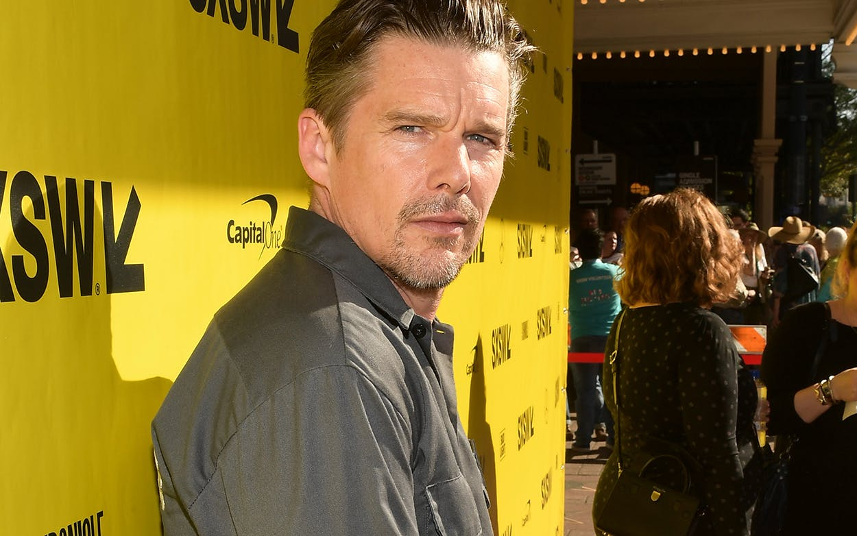 """Ethan Hawke attends the """"Blaze"""" premiere during the 2018 SXSW Festival at Paramount Theatre on March 16, 2018 in Austin."""