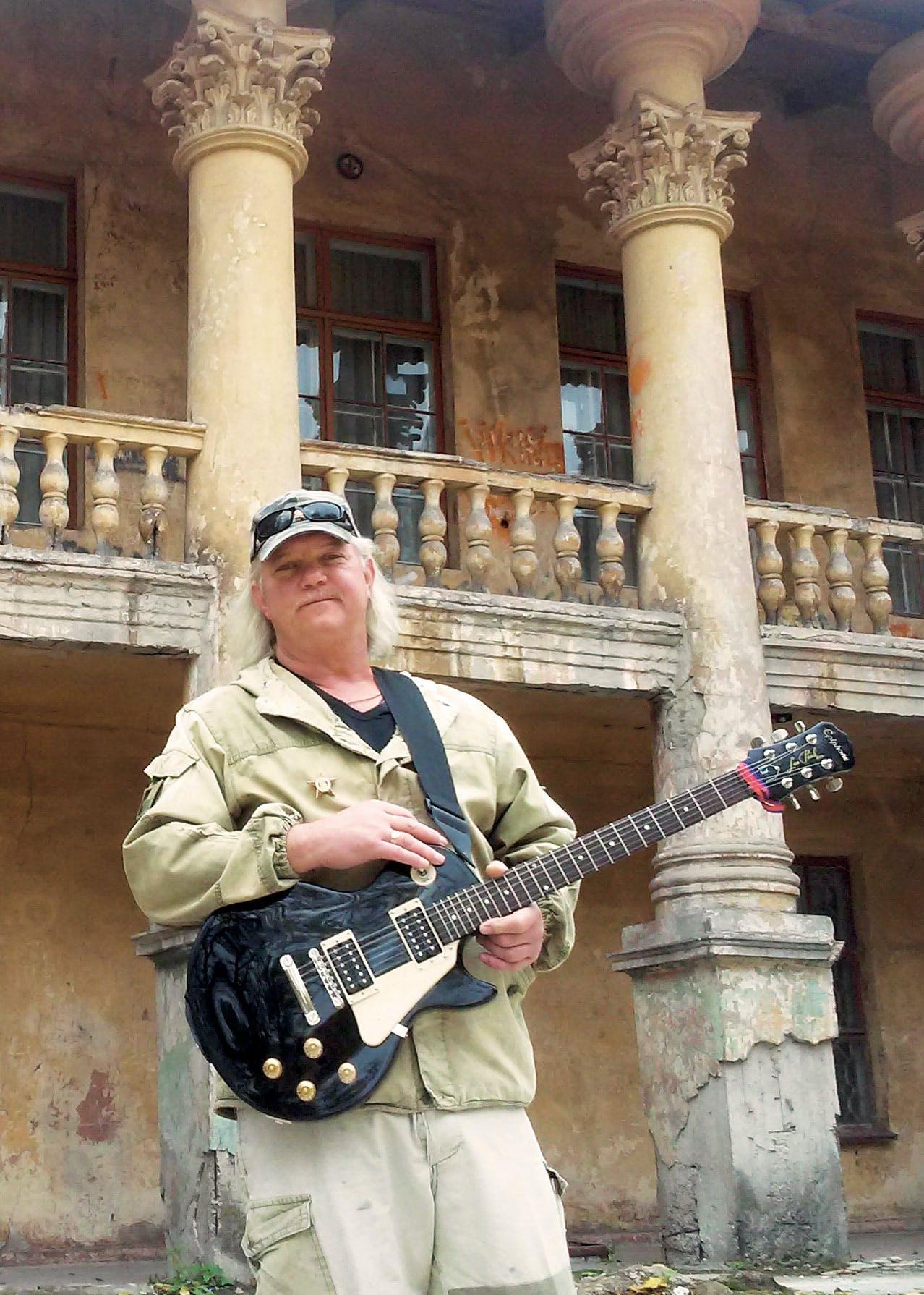 Bentley with guitar