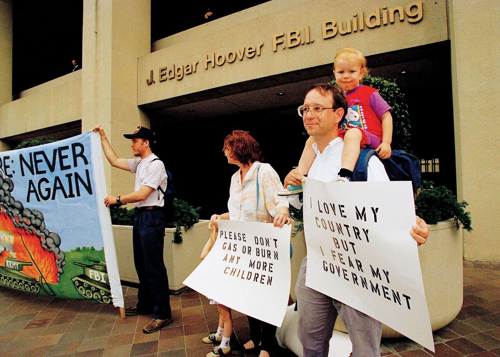 Protestors Waco