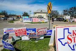 voting signs buda
