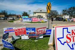 voting signs buda