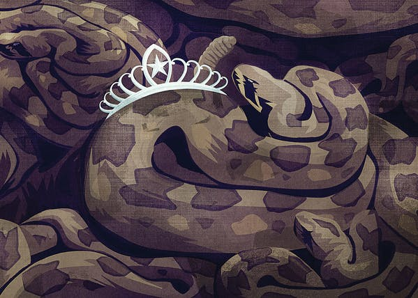 Rattlesnake tiara
