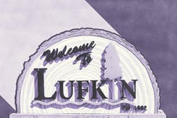 Welcome to Lufkin sign