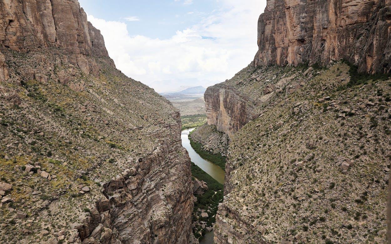 The Rio Grande forms the U.S.-Mexico border.
