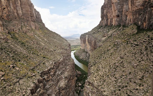 The Rio Grande forms the U.S.-Mexico border.