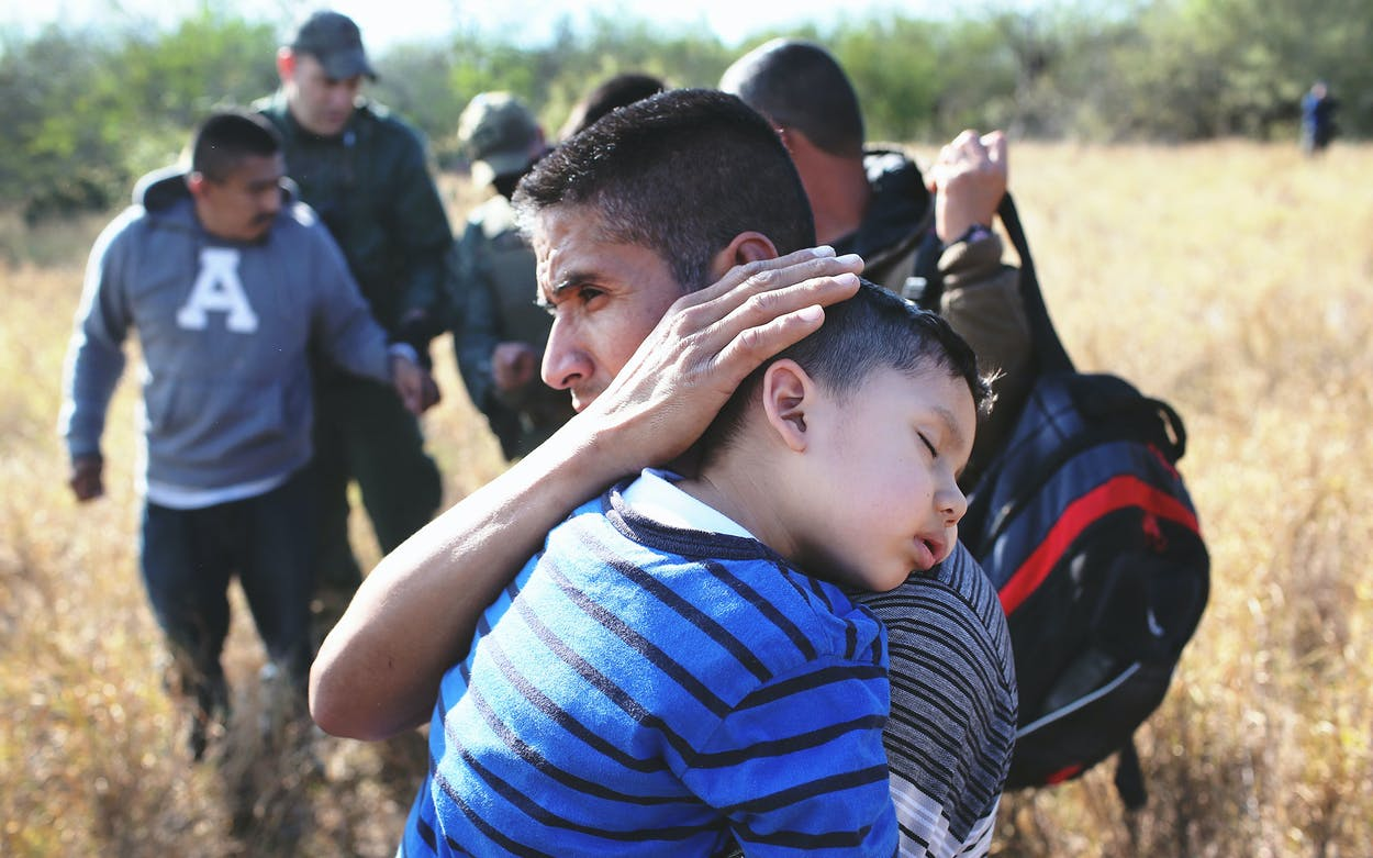 Father and son immigrants