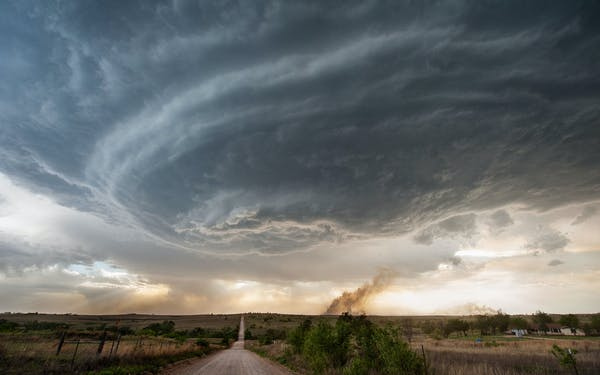 Fire Thunderstorm Panhandle