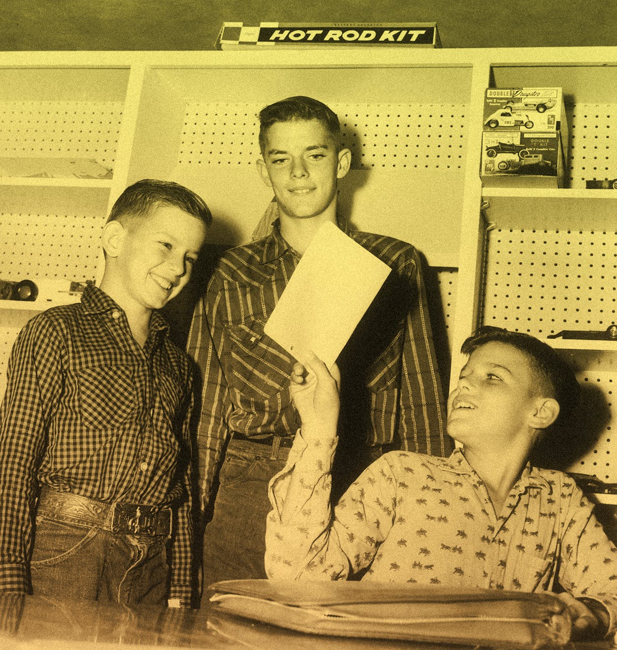 Karl, Bill, and Bobby Sarpalius, taken their first week at Boys Ranch in 1960.
