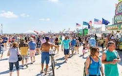 The crowd at Port Aransas' annual Texas SandFest, April 28, 2018.