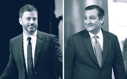 Jimmy Kimmel and Ted Cruz