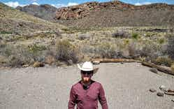 Christian Wallace in Big Bend National Park.