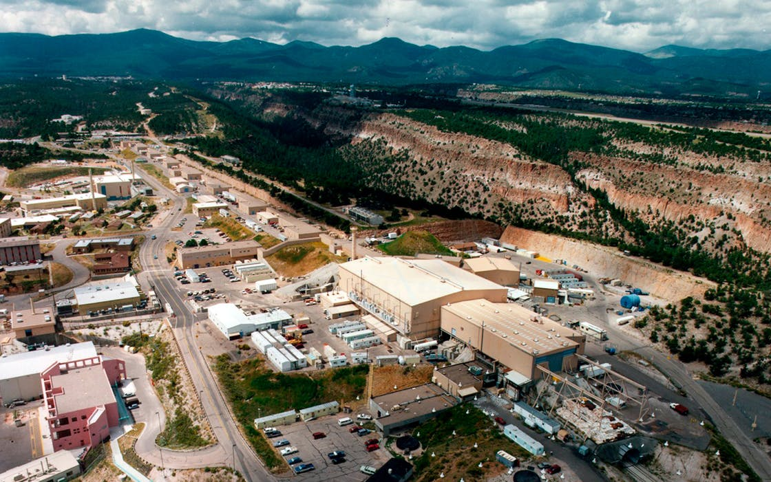 This undated aerial photo shows the Los Alamos National laboratory in Los Alamos, New Mexico. In 1943, J. Robert Oppenheimer invited top scientists to the site to build the world's first nuclear weapon.