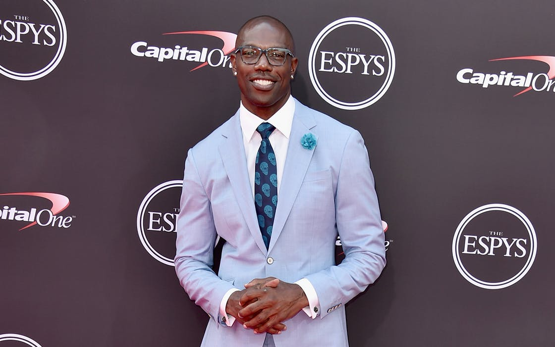 Retired football player Terrell Owens attends The 2018 ESPYS at Microsoft Theater on July 18, 2018 in Los Angeles, California.