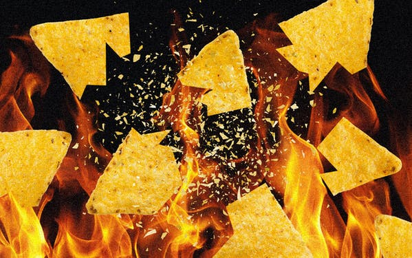 Spontaneously combusting tortilla chips