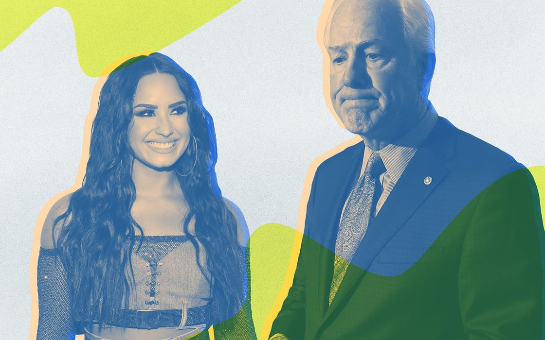 Demi Lovato and John Cornyn