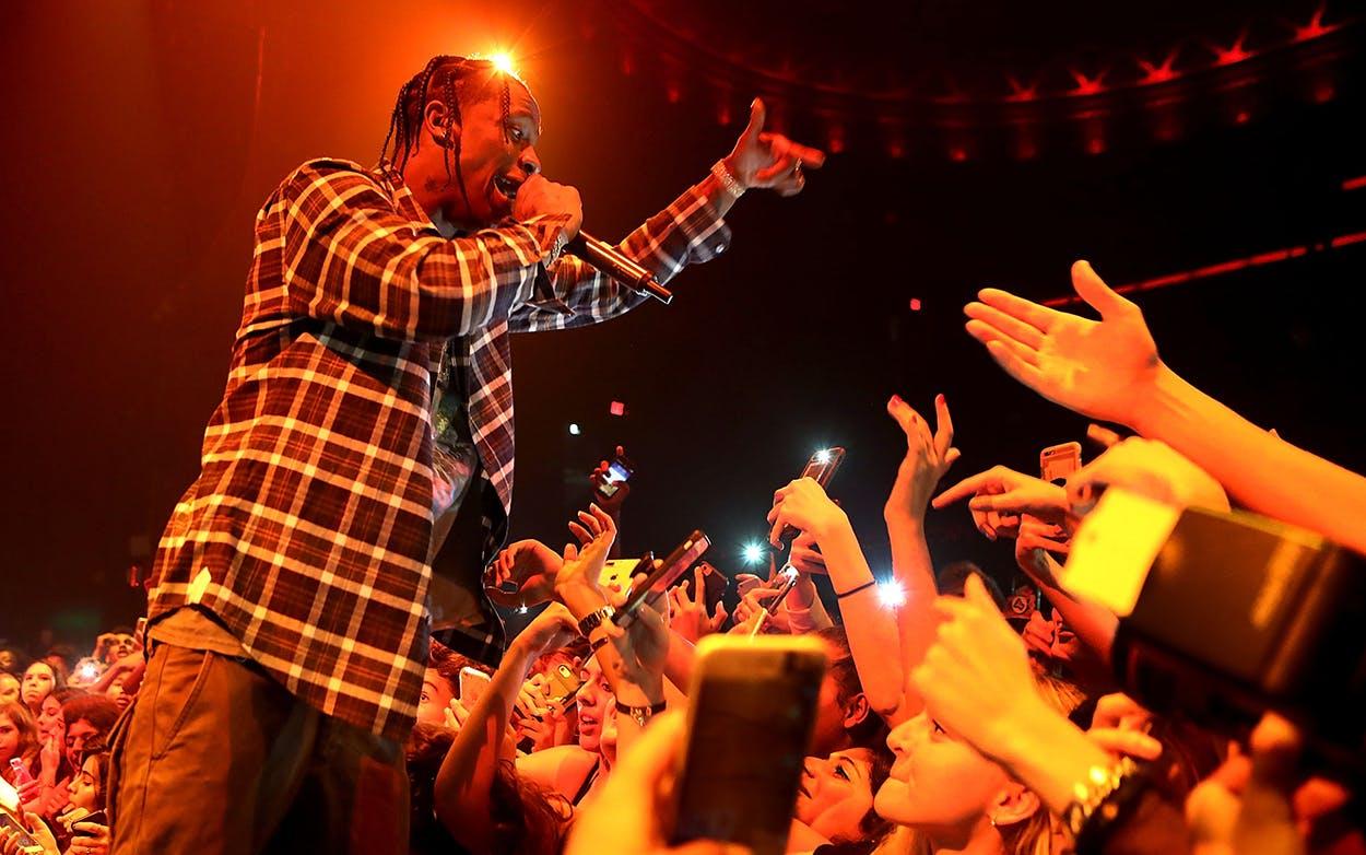 Travis Scott performs on September 9, 2017 in Los Angeles, California.