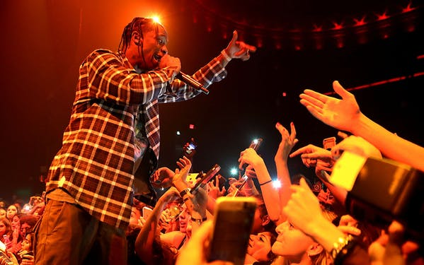 Travis Scott performs on September 9, 2017 in Los Angeles, California.